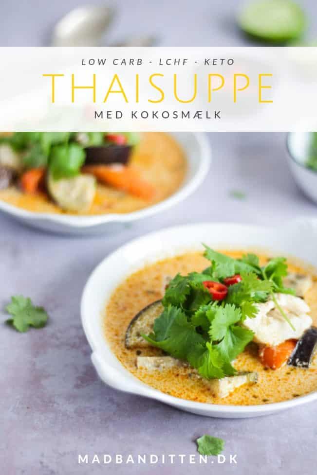 Thaisuppe med kokosmælk - mild men krydret dejlig suppe med smag af Thailand