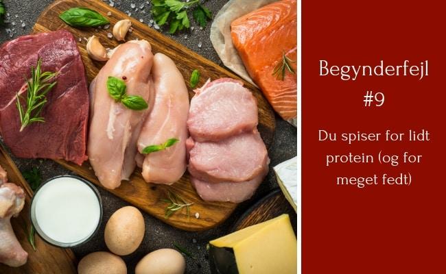 Begynderfejl #9: Du bruger KETO indstillingen hos Lifesum og spiser derfor for lidt protein og for meget fedt