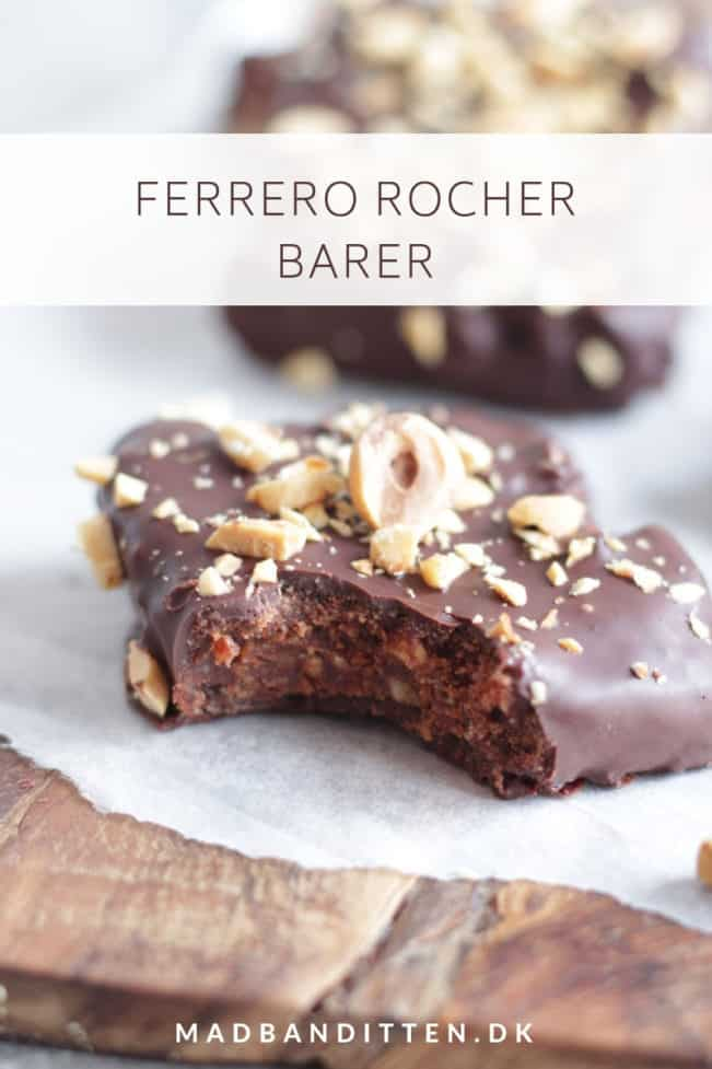 Ferrero Rocher barer - opskrift på Ferrero Rocher med mindre sukker