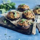 Fyldte svampe med chorizo og ost - KETO - LCHF - Low carb