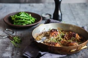 Sennepskylling - lækker opskrift på fransk sennepskylling. Kylling i sennepssauce med masser af smag.