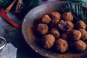 Chokoladetrøfler med julekrydderier