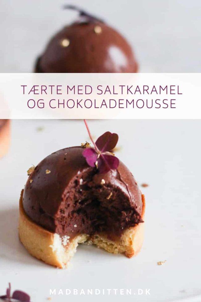 Tærte med chokolademousse og saltkaramel - glutenfri opskrift