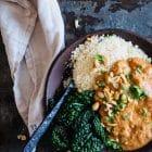 Afrikansk kylling med peanutsauce og blomkålsris - lækker og sund Low Carb aftensmad