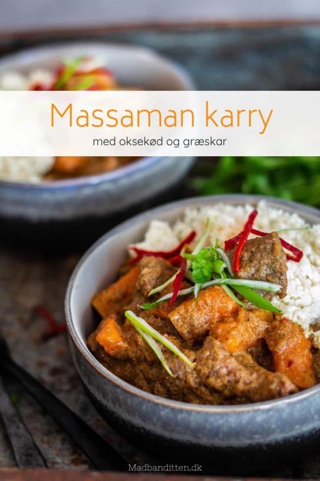 Massaman curry med oksekød og græskar - Low Carb / LCHF opskrift