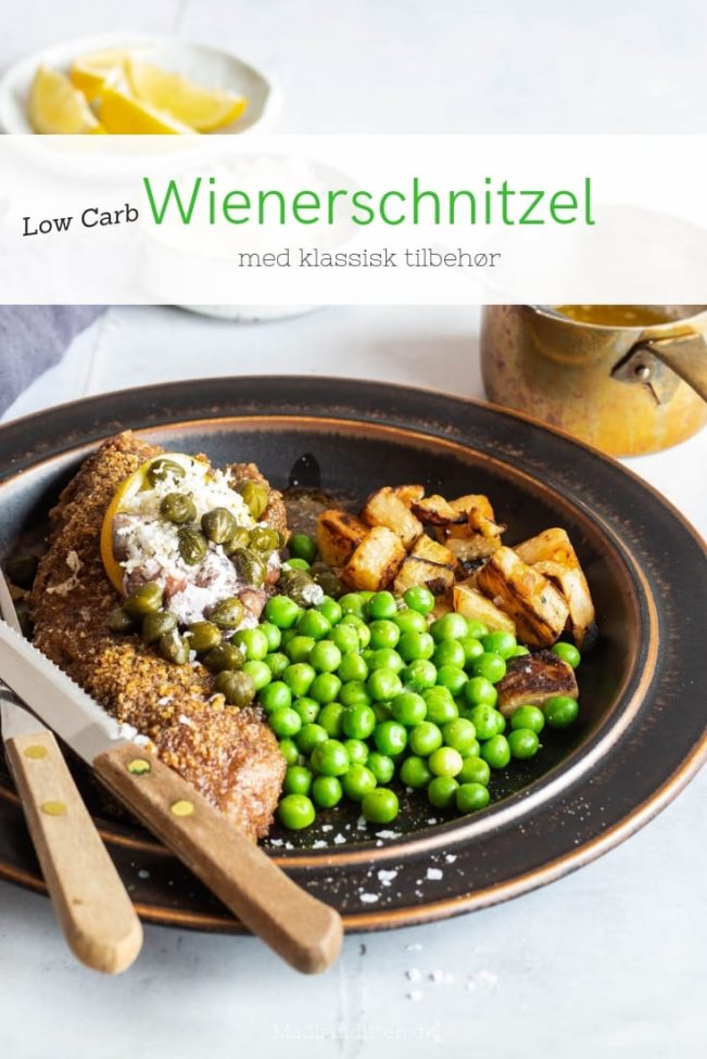 Wienerschnitzel - Low Carb opskrift på wienerschnitzel paneret i flæskesvær
