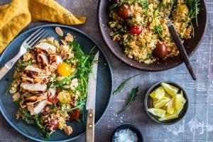 Harissa-kylling - lækker opskrift på kylling i chili-marinade.