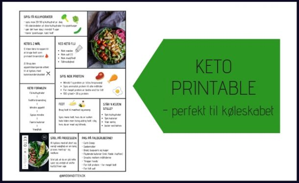 KETO printable - perfekt til køleskabet