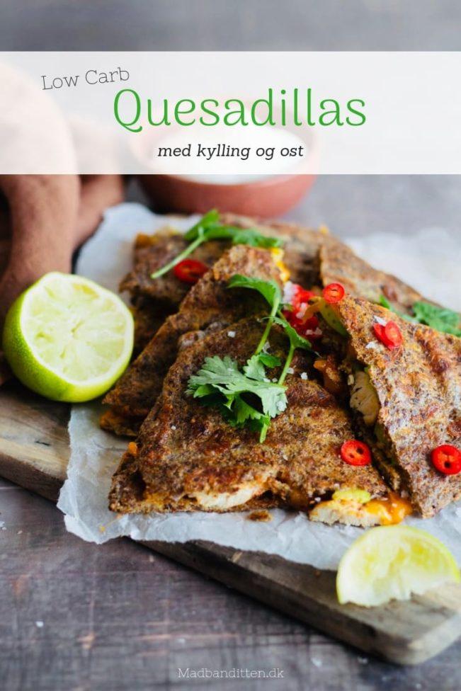Quesadillas med kylling og ost - Low Carb / LCHF opskrift