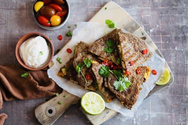 Quesadillas med kylling og ost