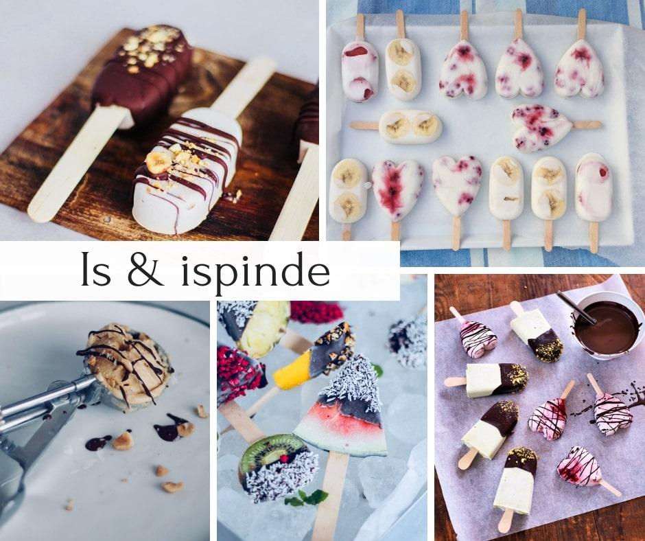 Is opskrifter - opskrifter på is - flødeis, ispinde, is med frugt - uden sukker, sukkerfrie, Low Carb, LCHF og KETO