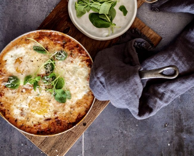 Italiensk æggepande med pancetta og parmesan
