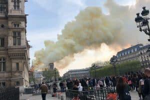 Notre Dame de Paris i flammer. R.I.P.