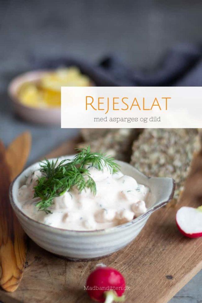 Rejesalat med asparges og dild. Dejlig klassisk opskrift til påskebordet.