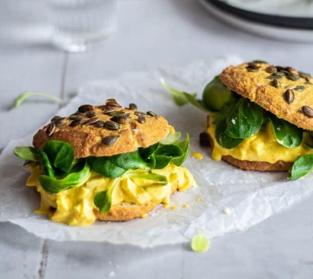 Sandwich med æggesalat - Low Carb & Glutenfri