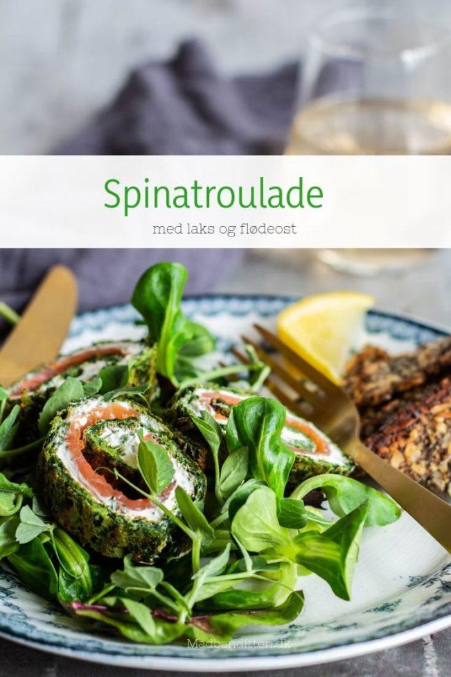 Spinatroulade med laks og flødeost - dejlig Low Carb opskrift på lakseroulade
