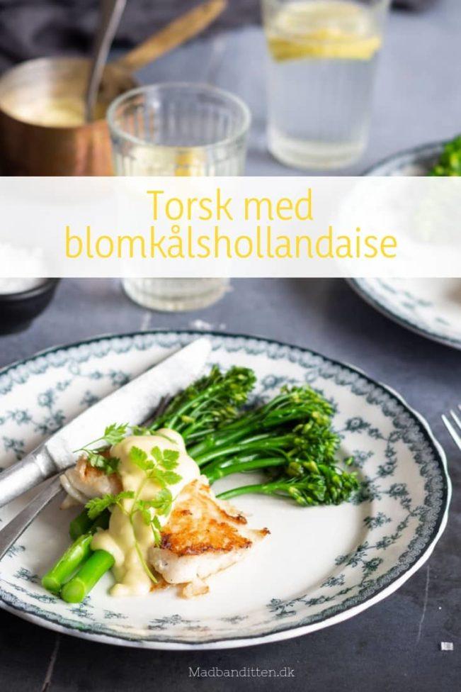 Torsk med blomkålshollandaise - perfekt KETO aftensmad