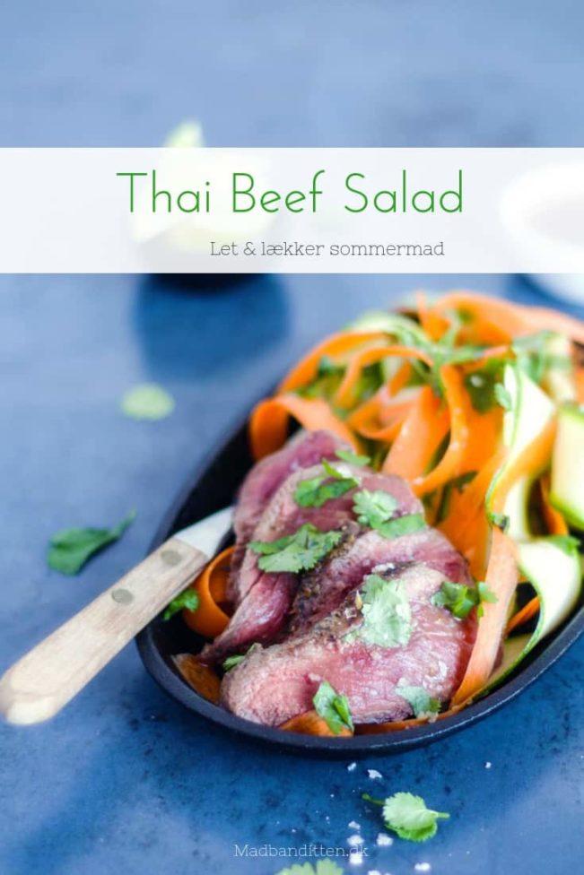 Thai Beef Salad - nem og enkel thaisalat med bøf - lækker og let sommermad