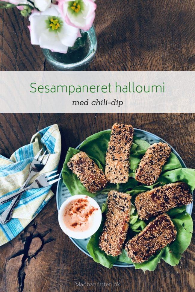 Sesampaneret halloumi - lækker opskrift med den gode grill-ost