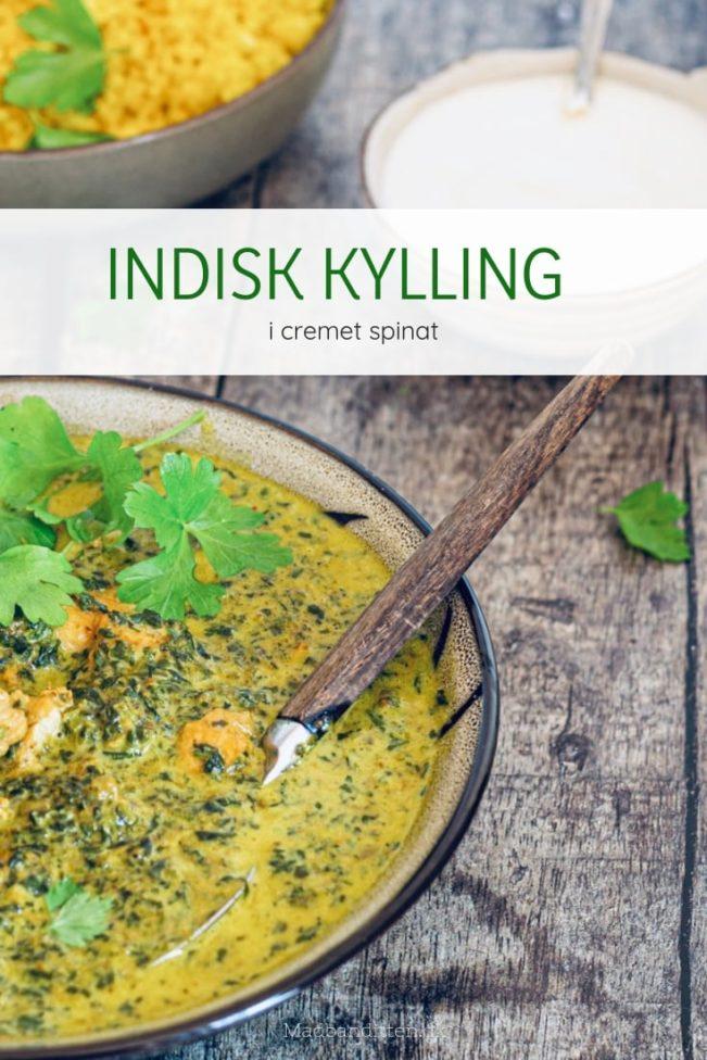 Indisk kylling i cremet spinat