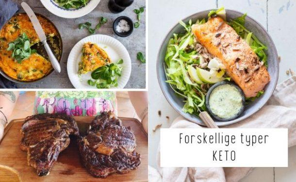 Forskellige typer KETO - keto uden kød, keto kun med fisk, carnivore keto osv.