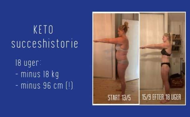 Keto vægttab - Henriette tabte 18 kg på 18 uger med Keto-bogen