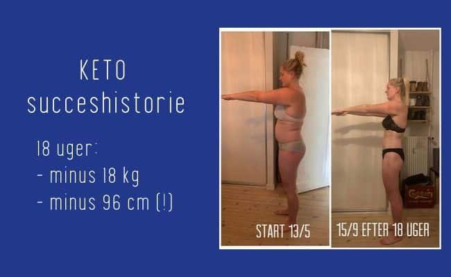 Henriette tabte 18 kg og 96 cm på bare 18 uger med Keto