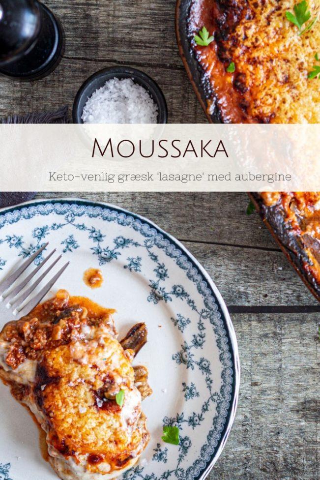 Moussaka - opskrift på Keto venlig lasagne med aubergine, bechamelsovs og hakket kød