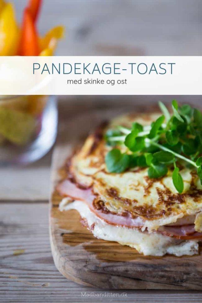 Pandekage-toast med skinke og ost - LCHF, KETO