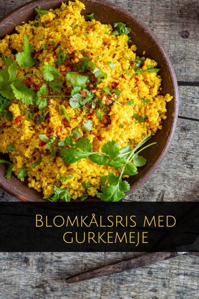 Blomkålsris med gurkemeje og krydderurter - lækker og sund variant af de populære blomkålsris