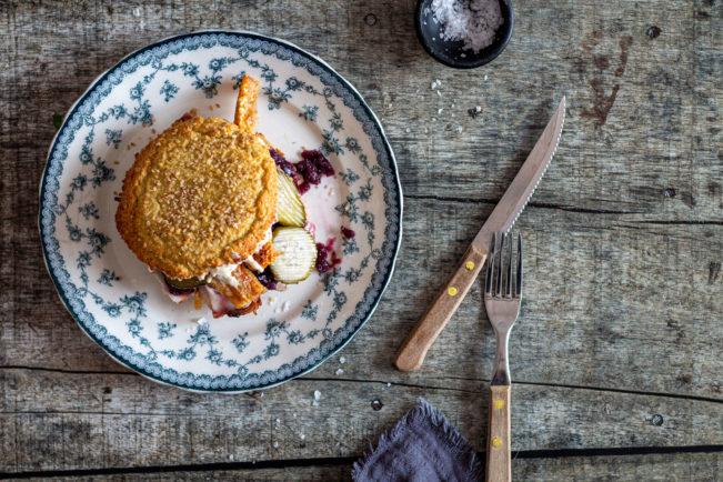 Flæskestegssandwich - glutenfri, Keto opskrift på den populære sandwich med flæskesteg