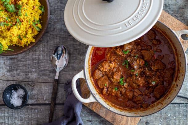 Vindaloo - lækker indisk gryderet med lam - Keto - venlig