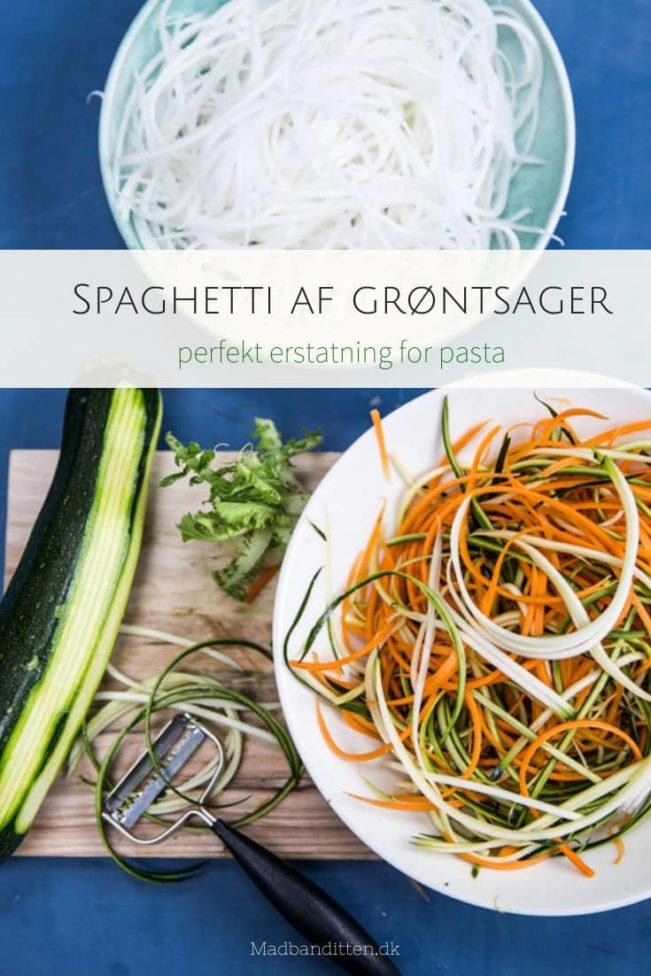 Grøntsags-spaghetti - se de mange muligheder for at lave spaghetti af grøntsager her