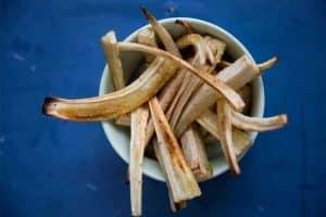 Rodfrugt fritter - sådan laver du lækre pomfritter af rodfrugter. Sund erstatning for kartofler