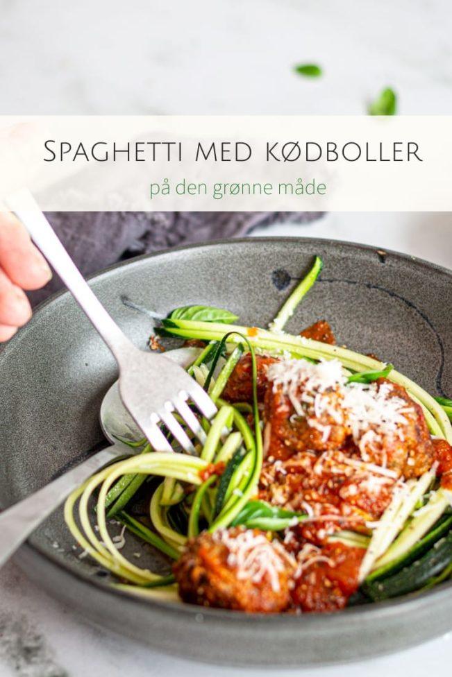 Spaghetti med kødboller à la Lady og Vagabonden på den grønne måde. Nem og lækker opskrift med få kulhydrater.