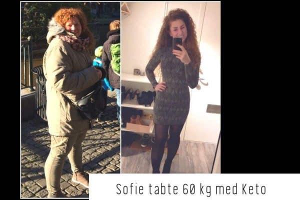 Sofie tabte 60 kg med Keto - stort vægttab med Keto