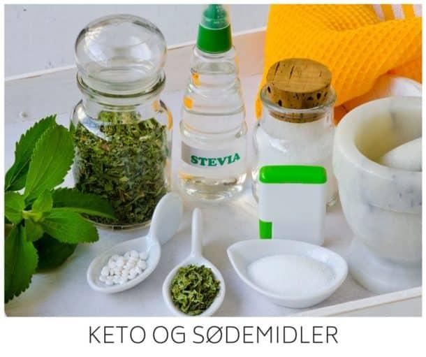 Keto og sødemidler - må man spise sødemidler på Keto?
