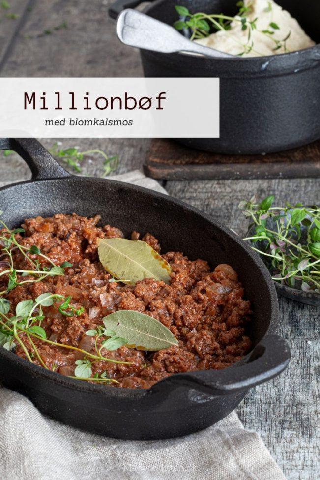 Millionbøf med blomkålsmos - den sunde opskrift på den populære familiefavorit