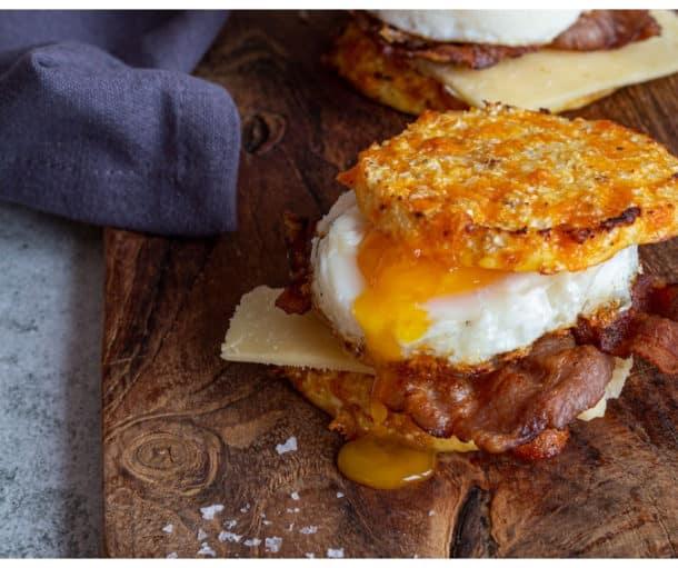 Morgenmadsburger - Opskrift på Keto morgenmad à la McMuffin