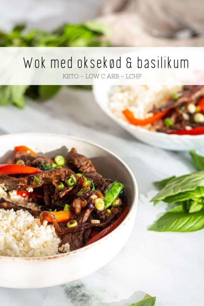 Wok med oksekød og basilikum - opskrift på lækker wokret med oksekød