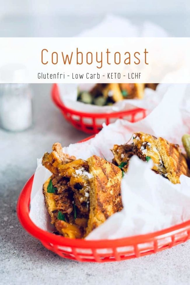 Cowboytoast - opskrift på Keto venlig toast med bøf - glutenfri og low carb