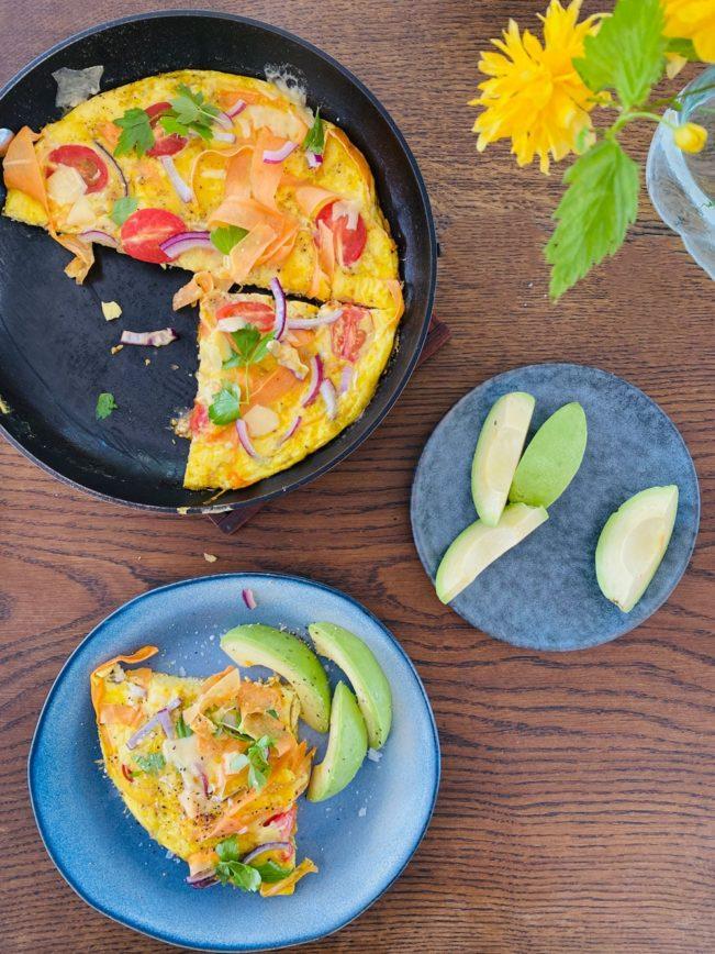 Æggekage med grøntsager - lækker og sund morgenmad eller frokost