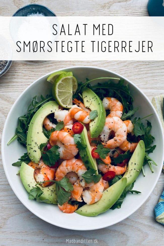Tigerrejer - opskrift på lækker salat med stegte tigerrejer