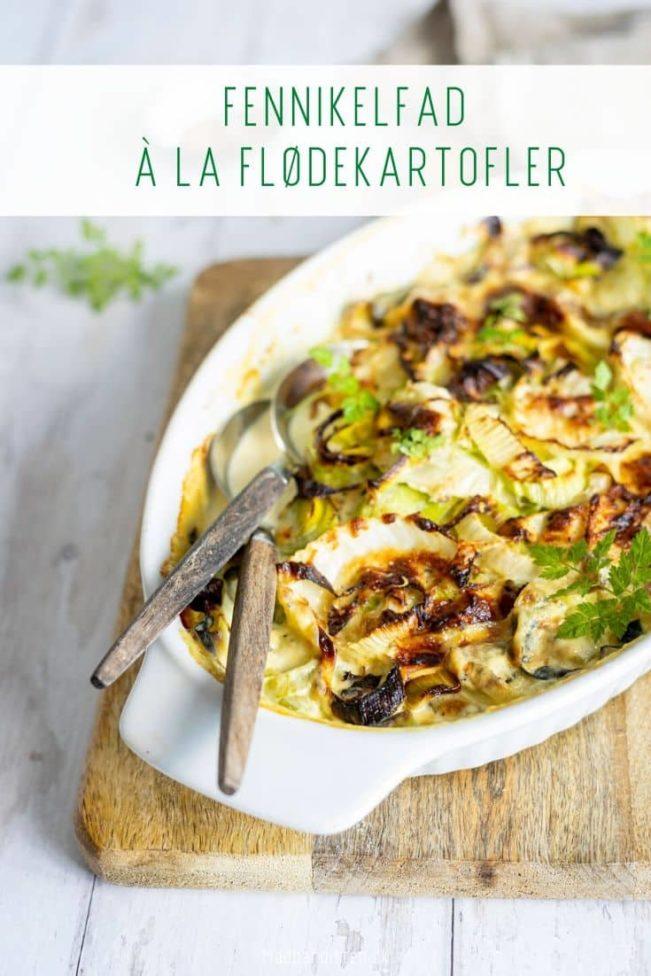 Fennikelfad à la flødekartofler - opskrift på Keto venlig erstatning for flødekartofler