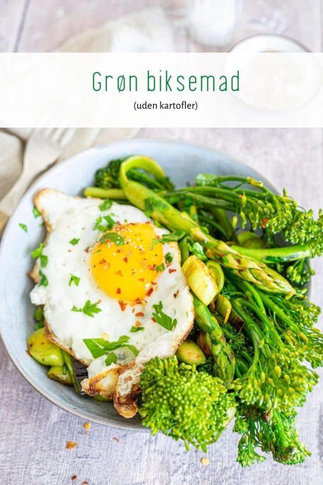 Grøn biksemad - opskrift på biksemad med grøntsager i stedet for kartofler
