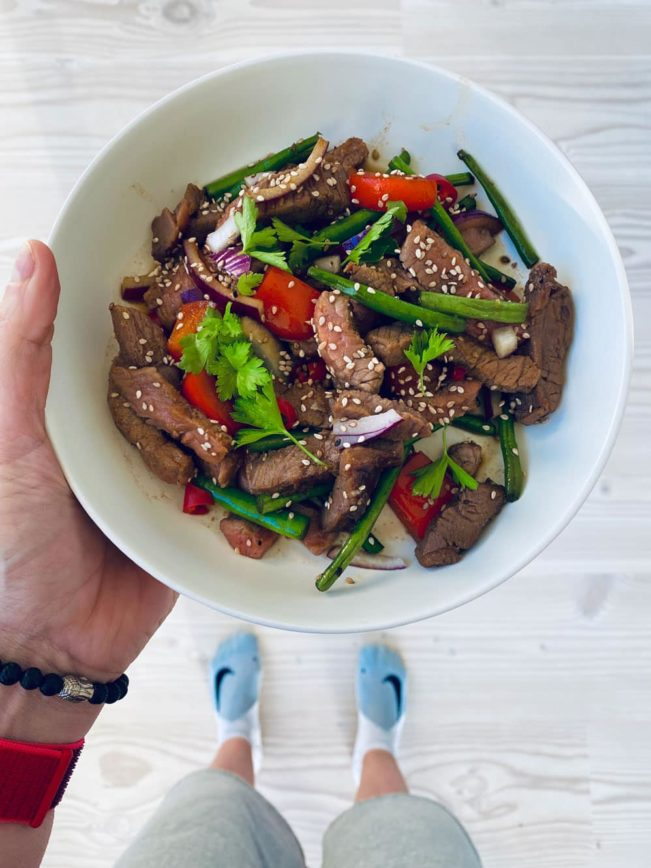 Hverdagswok med oksekød og bønner - opskrift på sund og nem hverdagsmad