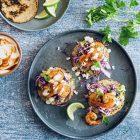 Low Carb tortillas med chilirejer og guacamole