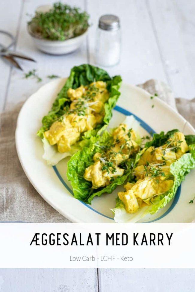 Æggesalat med karry - opskrift på Keto morgenmad eller frokost