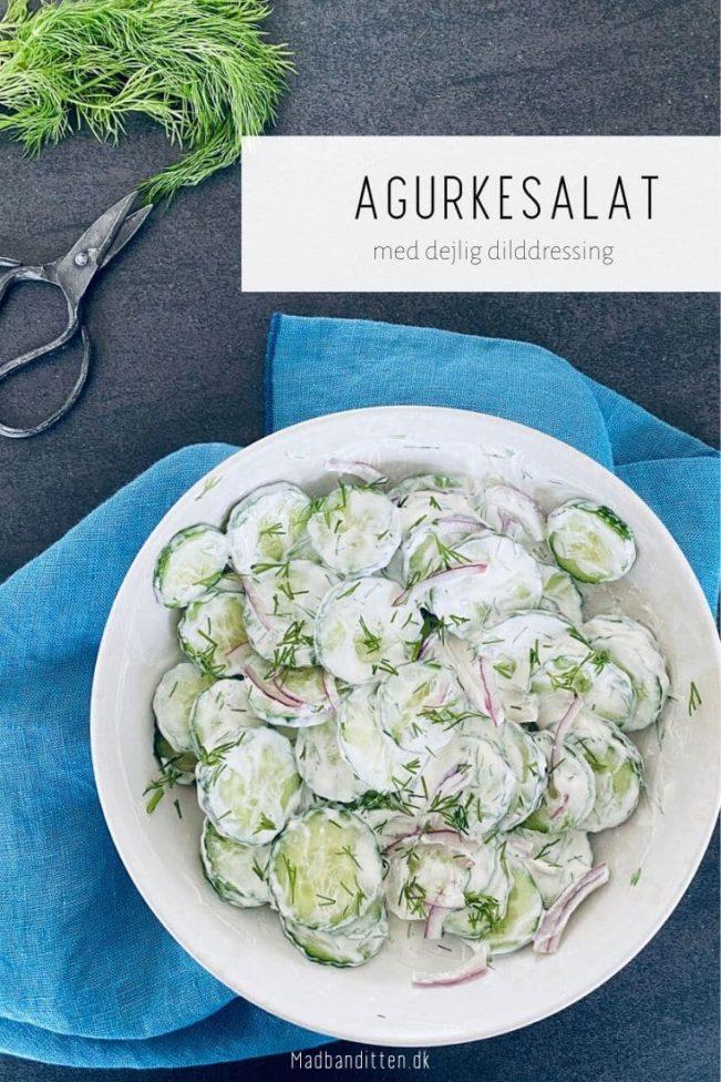 Agurkesalat med dildressing - lækker og let sommersalat