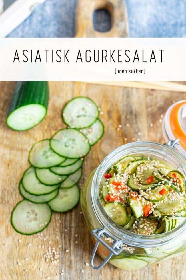 Asiatisk agurkesalat - opskrift uden sukker